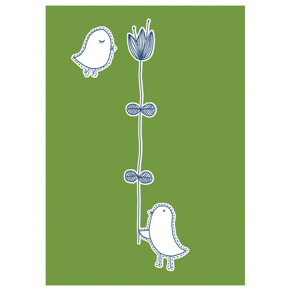 Kate Sutton Birds Card by Little Otsu