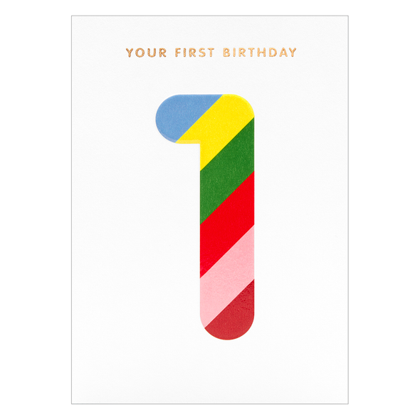 Magic Number Your First Birthday Card by Lagom