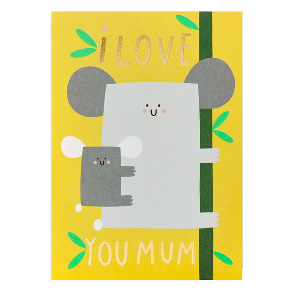 Susie Hammer I Love You Mum Card by Lagom
