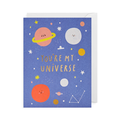 Susie Hammer You're My Universe Card by Lagom