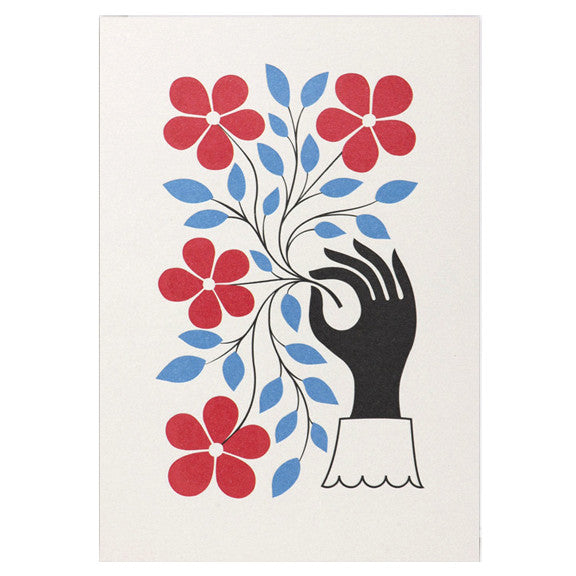 Alexander Girard Hand & Flower Card by Lagom Design