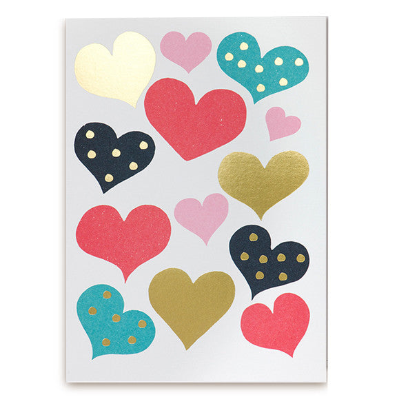 Debbie Powell Hearts Card by Lagom Design