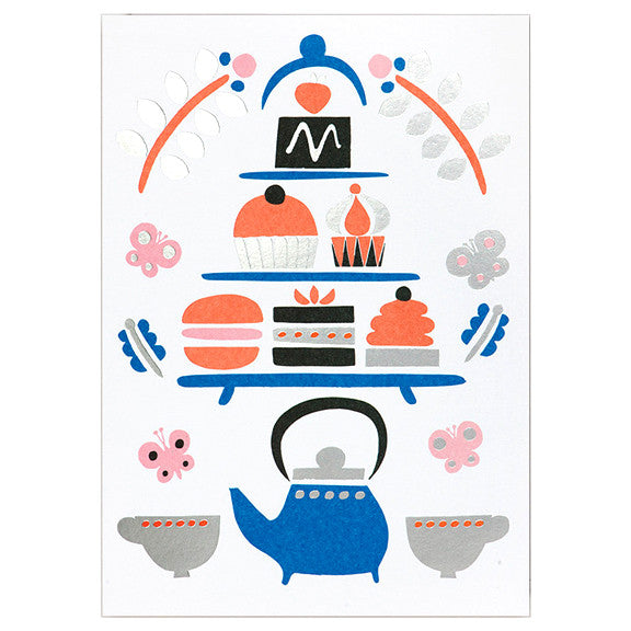 Debbie Powell Tea Party Card by Lagom Design