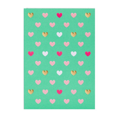 Postco Green Love Hearts Card by Lagom