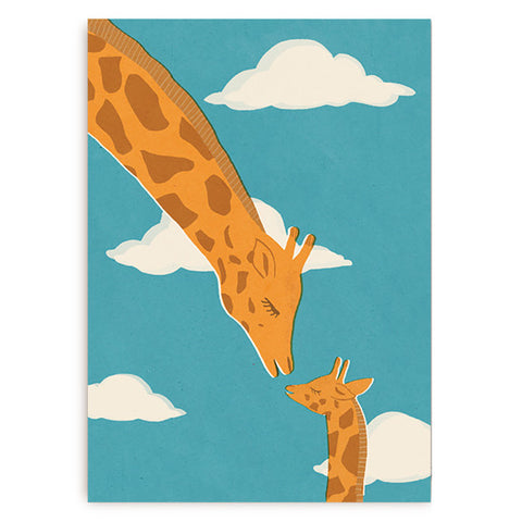 Naomi Wilkinson Giraffes Card by Lagom Design