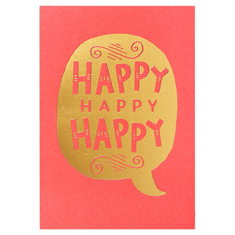Steph Baxter Happy Happy Happy Card by Lagom Design