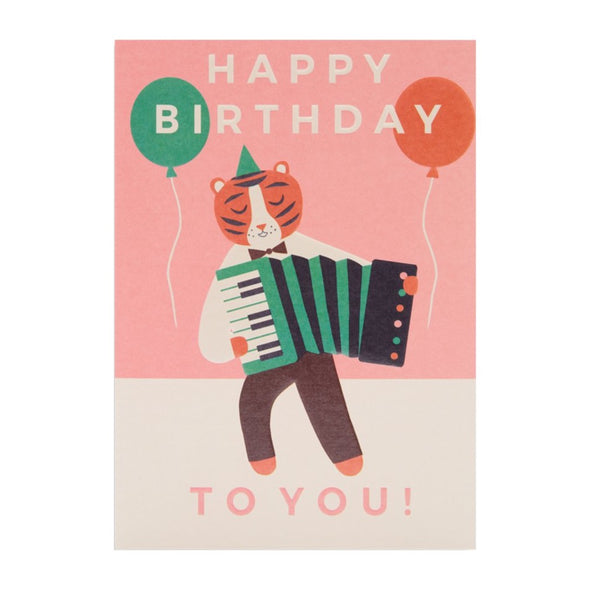 Naomi Wilkinson Tiger Happy Birthday to You! Card by Lagom Design