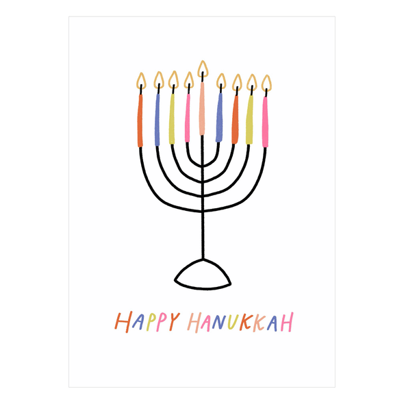 Hanukkah Card by Laura Supnik