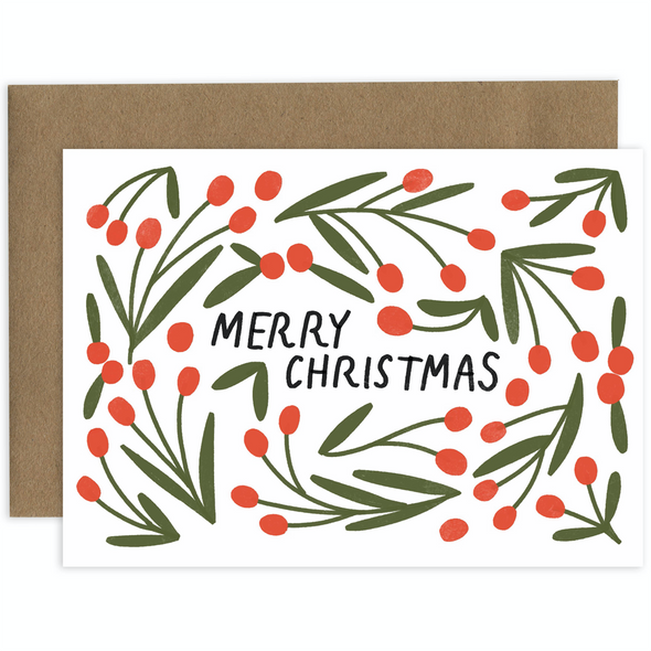 Merry Christmas Card by Laura Supnik