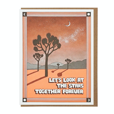 Let's Look At The Stars Together Card by Lucky Horse Press