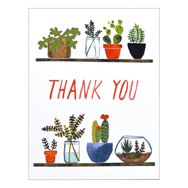 Succulents Thank You Card by Little Truths