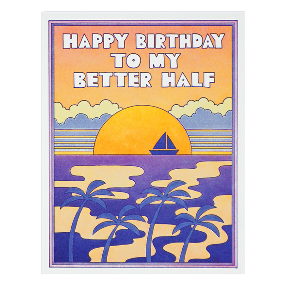 Happy Birthday to my Better Half Card by Lucky Horse Press