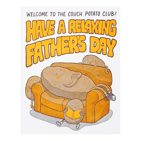 Couch Potato Father's Day Card by Lucky Horse