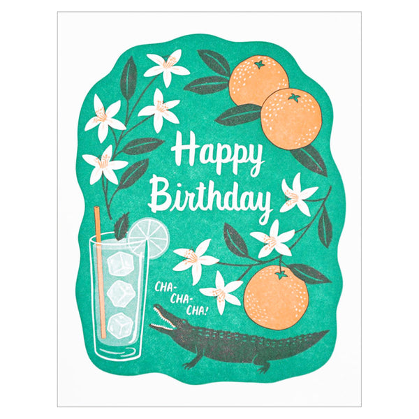 Happy Birthday Cha Cha Card by Lucky Horse Press
