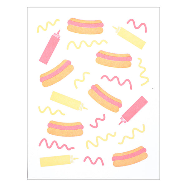 Lucky Horse Press Hot Dog Pattern Card