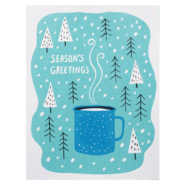 Lucky Horse Press Season's Greetings Enamel Cup Card Set