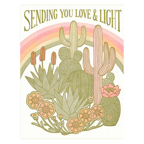 Sending You Love and Light Card by Lucky Horse Press