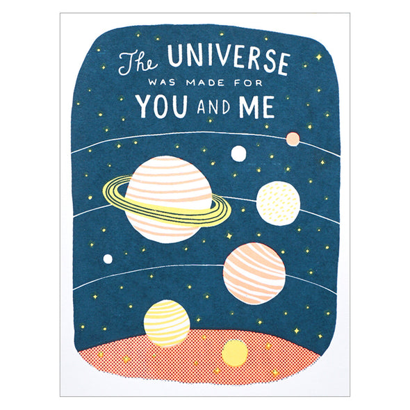 Lucky Horse Press The Universe Was Made for You and Me Card