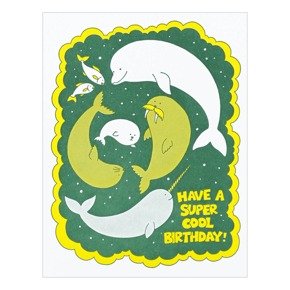Super Cool Birthday Card by Lucky Horse Press
