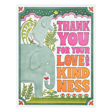 Thank You For Your Love and Kindness Card by Lucky Horse