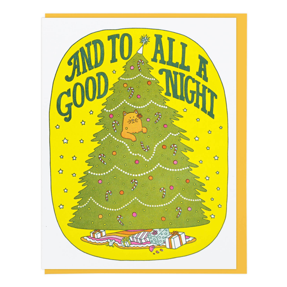 And To All A Good Night Card by Lucky Horse Press