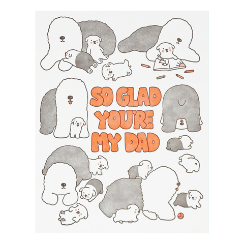 So Glad You're My Dad Sheepdogs Card by Lucky Horse Press
