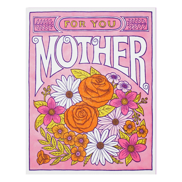 Flowers for Mother Card by Lucky Horse Press