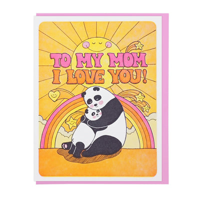 I Love You Mom Panda Card by Lucky Horse Press