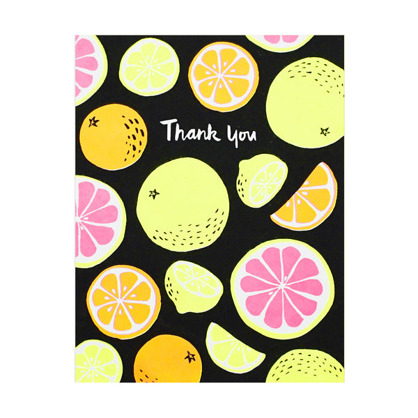 Thank You Citrus Fruits Card by Lucky Horse Press