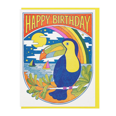 Toucan Nights Birthday Card by Lucky Horse Press