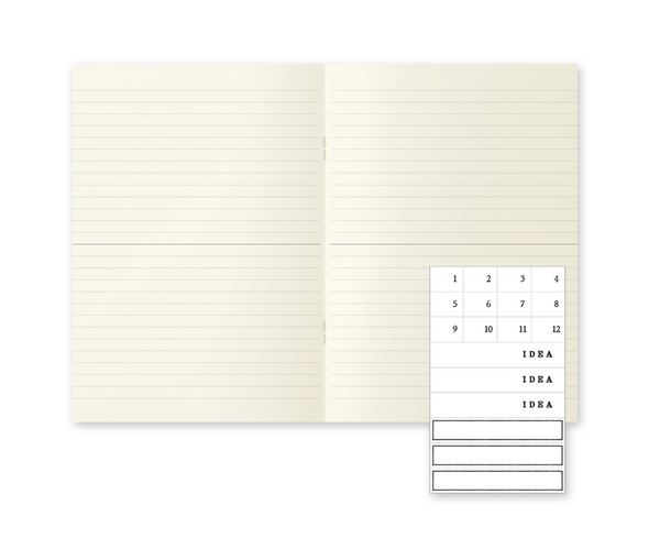MD Notebook A5 Light Set of 3 by Midori