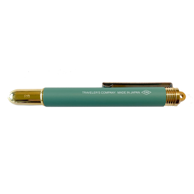 Limited Edition Factory Green Brass Rollerball Pen by Traveler's Company