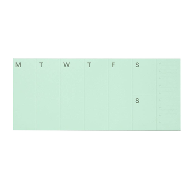Weekly Planner Pad by Mishmash