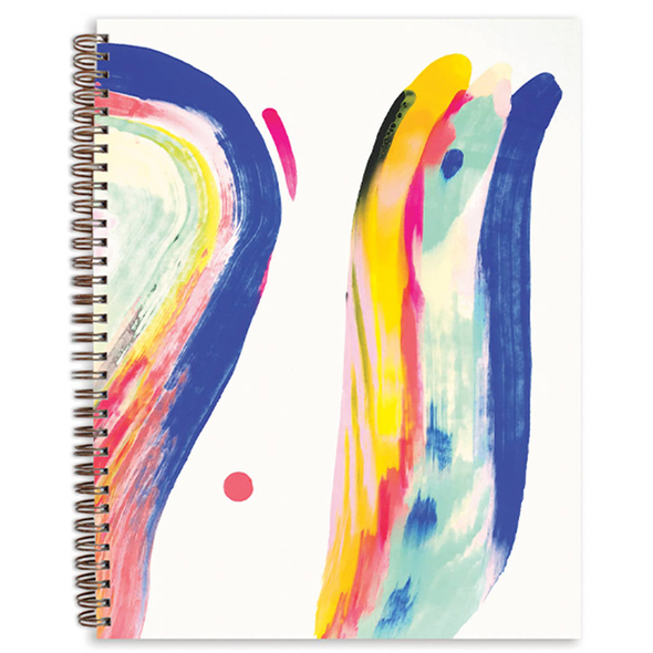 Painted Swirl Dot Sketchbook by Moglea