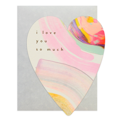Rainbow Heart Card by Moglea