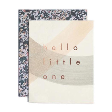 Hello Little One Baby Card by Moglea