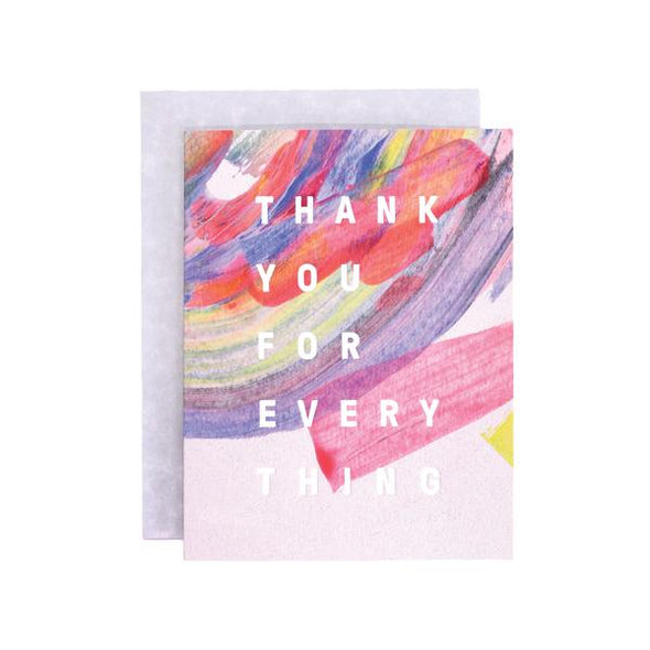 Rainbow Thank You For Everything Card by Moglea
