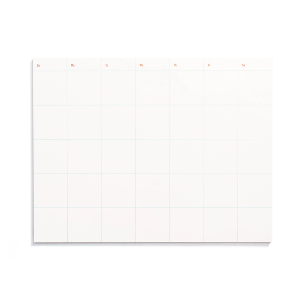 Monthly Calendar Notepad by Iron Curtain Press