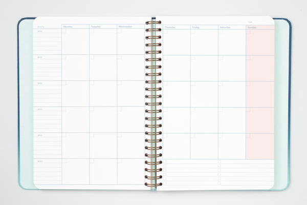 Undated Weekly Vertical Planner by Mossery