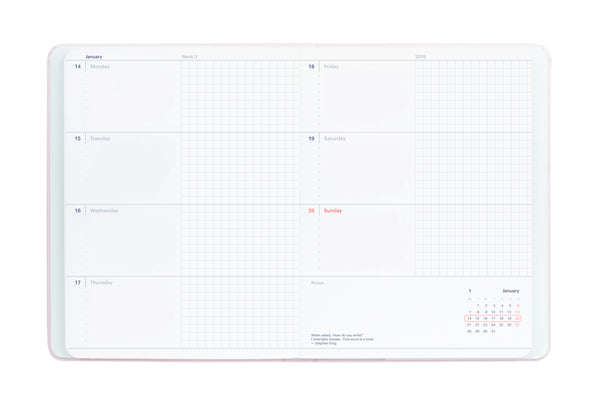 2020 Weekly & Monthly Horizontal Planner by Mossery