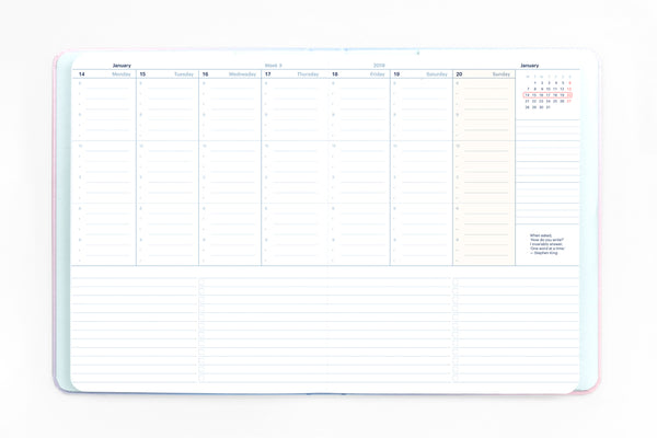2020 Weekly Vertical Planner by Mossery