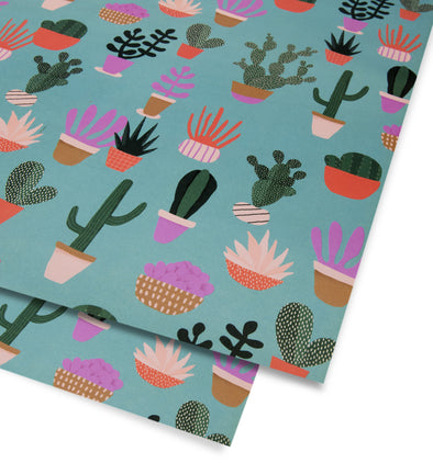 Naomi Wilkinson Cactus Wrap Single Sheet by Lagom Design