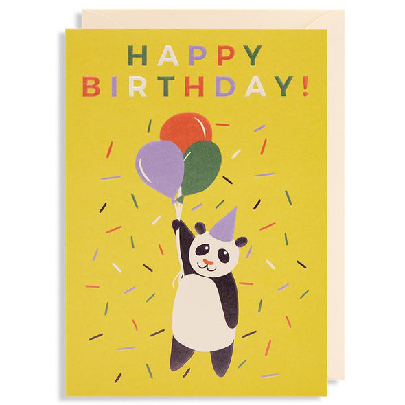 Naomi Wilkinson Happy Birthday Panda Card by Lagom Design