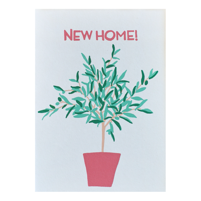 New Home Olive Tree Card by Gold Teeth Brooklyn