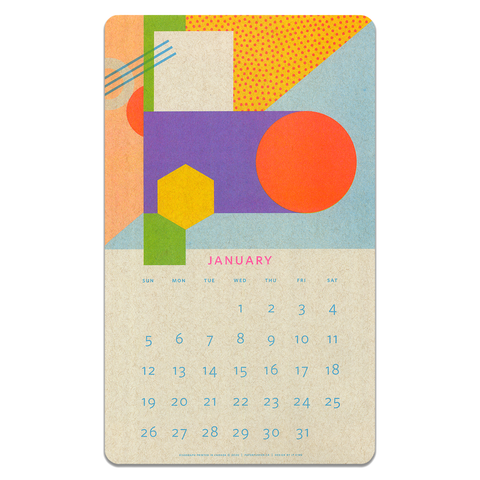 2020 Isometric Risograph Calendar by Paper Pusher