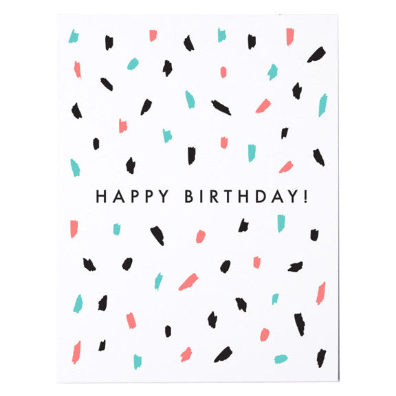 Confetti Happy Birthday Card by The Paper Cub