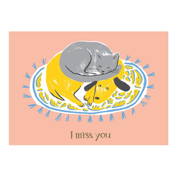 I Miss You Card by Paperole