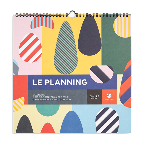 2020 Le Planning Wall Calendar by Papier Tigre