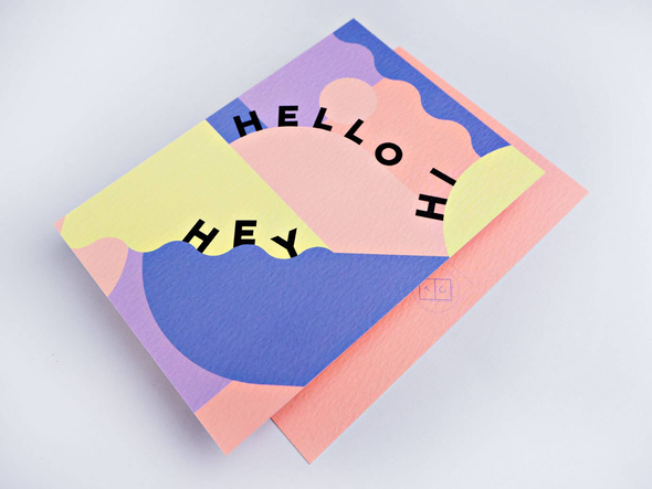 Pastel Miami Postcard by The Completist