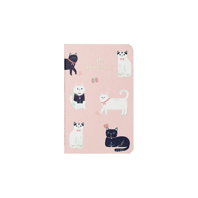 Cats Pink Pocket Notebook by Mossery